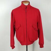 Nordstrom Vintage Red Wool Bomber Jacket Full Zip Mens Size M