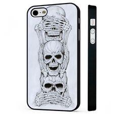 See Hear Speak No Evil Skull BLACK PHONE CASE COVER fits iPHONE