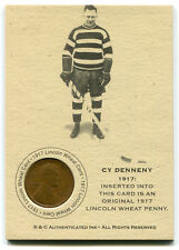 CY DENNENY Authenticated Ink Coin Card 1917 s Lincoln Wheat Penny
