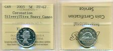 2003-1953 Canada Silver Five Cent, Coronation UHC ICCS PF-67