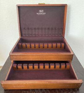 International Silver Co Flatware Silverware Wood Storage Chest Case with Draw
