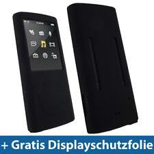 Schwarz Silikon Hülle Tasche Etui Case Skin für Sony Walkman NWZ E463 E464