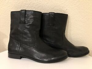 FRYE Women's Anna Shortie Ankle Short Boots 10 Black