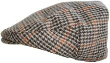 518e33bcbf74d Mens Tweed Country Flat Cap 60cm Brown Square Check