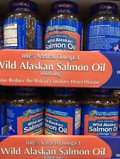 Pure Alaska Omega-3 Wild Salmon Oil 1000mg 180 Softgels Exp 2019 SHIP FROM STORE