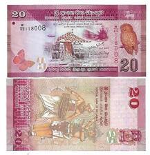 Sri lanka 20 rupias 2010 2011 UNC p 123