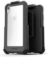 iPhone XR Belt Clip Clear Case / Cover with Holster, Protective Case Falcon Grey