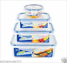 Set of 4 Clip Lock Airtight Kitchen Food Storage Container Plastic box fresh