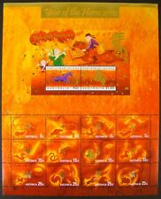2002 CHRISTMAS ISLAND AUSTRALIA YEAR OF THE HORSE STAMP SHEET CHINESE HOROSCOPE
