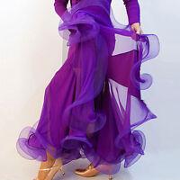 Latin salsa tango rumba Cha cha Square Ballroom Dance Dress#FM001 Skirt 7 Colors
