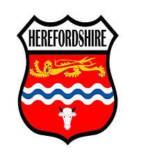 1 x Herefordshire County Shield Flag Decal Car Motorbike Laptop Window Sticker