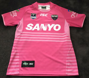 Vintage Penrith Panthers Rugby League jersey NRL Pink Sanyo size Medium