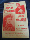 """ Partitur Tiroler Pinson Amour Vagabond Yvette Horner Edouard Duleu """