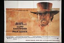 PALE RIDER 1985 VERY FINE ORIGINAL SUBWAY MOVIE POSTER CLINT EASTWOOD