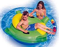 Intex Spin Lounge, riesen Luftmatratze für Kinder zum Spielen, mit Rückenlehne