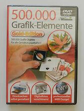 DVD-ROM 500 000 Grafik Elemente für Windows Neu originalverpackt