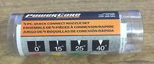 PowerCare 4 Piece Quick Connect Pressure Washer Nozzle Set 3300 PSI AP31003B NEW