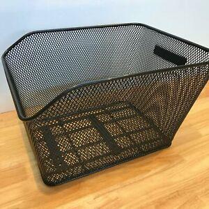 Wire Mesh Bicycle Basket (Rear) —AUS STOCK— Black Bike Retro Crate