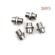 20pcs 5mm Round Chrome Metal LED Lamp Light Emitting Diode Bezel Holder SPES
