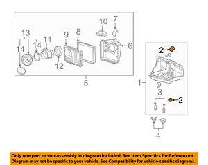 GM OEM Air Cleaner Intake-Lower Housing Bumper 10318525