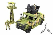 Army Sniper Tower Jeep Patrol Set Kids Military Large Toy Soldier Kit