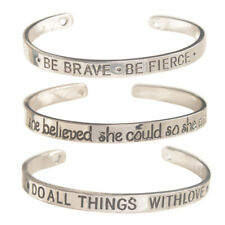 3PCS Mixed Lots of Inspirational Bracelet Cuff Bangles Engraved Jewelry Gift