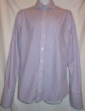 CHARLES TYRWHITT COLORFUL FINE STRIPES FRENCH CUFF DRESS SHIRT CT7634
