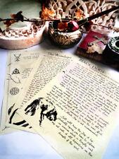Supernatural journal pages mythical evil creatures spirits demons, sigils symbol