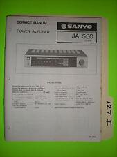 Sanyo ja 550 service manual original repair book stereo power amp amplifier