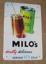vintage style MILO TIN SIGN! new Chocolate milk drink RETRO bar nestle Australia