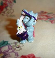 Mini Circus Elephant Magician holding Rabbit & Wand. Cute!!