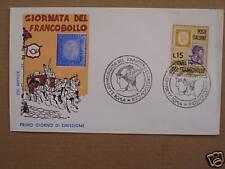 FDC ITALIA 1962 GIORNATA DEL FRANCOBOLLO modello SERVICE con ANNULLO SPECIALE RR