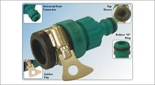 """TAP TO GARDEN HOSE PIPE CONNECTOR 1/2"""" ROUND MIXER TAPS"""