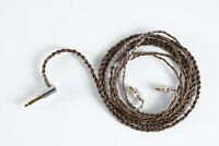 Copper 6cores  Cable  Mixed Braided  Earphones Cord HiFi Audiophile IEMs Cable