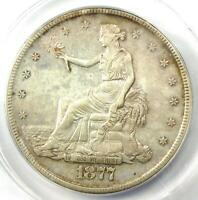 1877-S Trade Silver Dollar T$1 - Certified ANACS AU50 Details - Rare Coin!