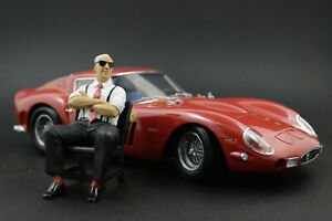 Enzo Ferrari (3) sitting Figure for 1:18 HotWheels 250 California 166 ! NO CAR !