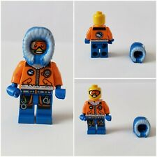 Lego Mini Figurine Guy Man Skier Snowboarder EUC Pretend Play figure