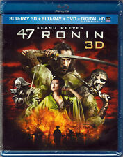 47 RONIN in 3D The MOVIE on a BLU-RAY 3 Disc DVD of JAPANESE Japan SAMURAI Fight