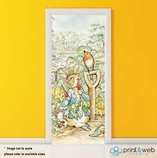 Beatrix Potter Peter Rabbit Vinyl Door Wrap Decal Sticker Self Adhesive Bedroom
