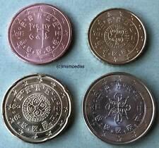 Portugal 4 Euromünzen 2018 kleiner KMS mit 5 Cent +10 Cent + 20 Cent +1 Euro