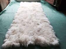 peau de mouton, d'agneau Tapis cadeau d'entrée Housse fauteuil 165 x 65 cm
