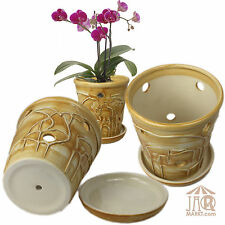 Orchideentopf aus Keramik - Orchideen-Topf - Blumentopf - Übertopf mit Qualität!