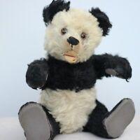 """Antique Steiff Teddy Bear Panda """" Pauli """" w Steiff Squirrel & Doll Basket"""