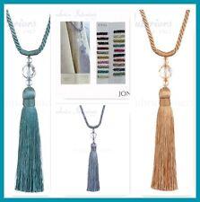 2 Jones Pixie curtain tassel tiebacks  Rope and bead fabric drape tie backs ties