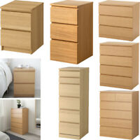 Chest Of 2 3 4 6 Drawers,Bed Side,Dressing Table, Desk, Home Drawer - OAK Effect