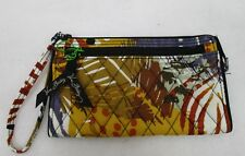 Vera Bradley Front Zip Wristlet Painted Feathers NWT