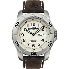 Timex Expedition Genuine Leather Strap Analog Wristwatches