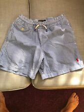 Gorgeous Polo Ralph Lauren Blue And White Stripes Shorts/Swimming Shorts age 8
