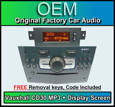 VAUXHALL Corsa CD30 Lettore MP3, OPEL CD RADIO STEREO & Display Grigio