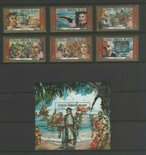 Malagasy 1987 Explorers / Columbus Discovery of America Mint MNH Set & Sheet